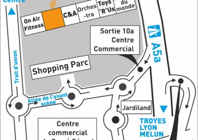 Plan d'accès SPECIAL KIDS - Shopping Parc de Carré Sénart