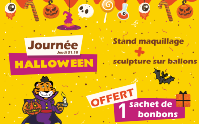 Journée Halloween  des animations dès le matin…  …1 sachet de bonbons OFFER
