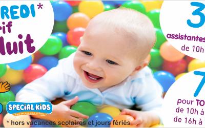 Les VENDREDIS*, c'est TARIF REDUIT ! 3.50€ / enfant pour les assistantes matern