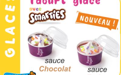 NOUVEAU…Mmmm  Venez déguster nos Yaourt glacés SMARTIES !