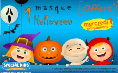 OFFERT* – aujourd'hui uniquement –  Viens chercher ton MASQUE Halloween.. ..Bo