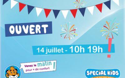 OUVERT  14 juillet – dès 10h !   Bonne fête nationale à tous.  Venez le matin