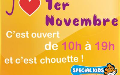 OUVERT aussi 1er novembre – dès 10h Suivez le bon conseil de Timy Venez le mati